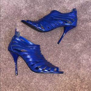 Royal Blue Cage Heels